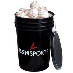 BSN SPORTS Bucket w/3 dz 79P Baseballs (EA) by BSN SPORTS