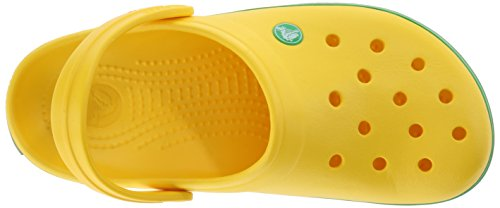 Green lemon Crocband Crocs Jaune Mixte Sabots Adulte grass wfqqPS0X