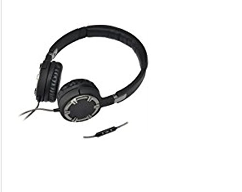 Gear Head HQ5750BCM Black, Chrome Dynamic Bass Multimedia Headphones With Microphone - Stereo - Mini-phone - Wired - 32 Ohm - 20 Hz - 20 kHz - Over-the-head - Binaural - Circumaural - 5.40 ft Cable