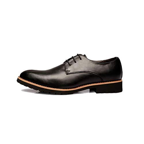 Cuero Primavera Negocios De Hombres Moda Ocio Jóvenes Encaje LYZGF Black Y Otoño Zapatos APSEKBRqqT