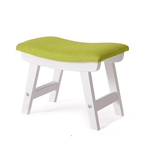 B Small Stool, Solid Wood Material Fashion Creativity, shoes Bench Coffee Table Stool, Three color Choices (color   G)