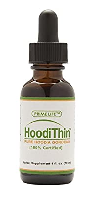 HoodiThin Organic Weight Loss Herbal Supplement, Powerful Appetite Suppressant, Plant Based Formula, Nutraceutical Grade Liquid Extract, 1 Fluid Ounce