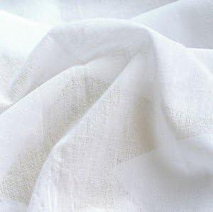 Blanco MATERIAL de muselina 100% algodón 122 cm, ancho de muselina ...