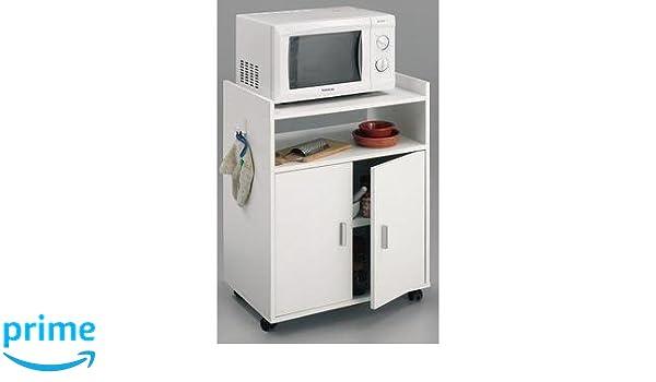 HOGAR 24 Mueble Armario Auxiliar De Cocina para Microondas. Color ...