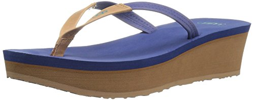 UGG Women's Ruby Wedge Flip Flop, Moonstone, 8 B US - Moonstone Ruby
