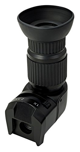 Wide Angle Viewfinder - Viewfinder Right Angle Viewfinder With 1x - 2.5x Magnification for Nikon Canon Pentax Sony Minolta Samsung Fuji Olympus and Other DSLR and SLR Cameras