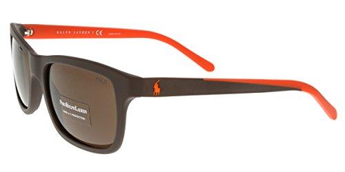 Polo Ralph Lauren Men's 0PH4095 Square Sunglasses, Matte Brown,Brown,Brown & Matte Orange, 57 - Sunglasses Polo Prescription