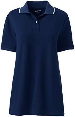 Lands' End Women's Mesh Cotton Short Sleeve Polo Shirt