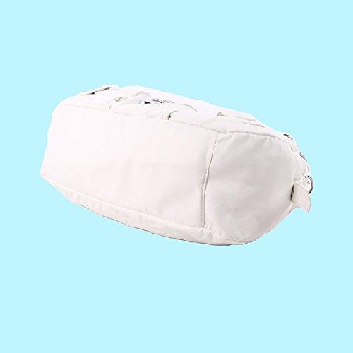 Pour Main Sac à Bandoulière Angelkiss Large Epaule Petites Capacité Filles AK11282Z Cuir Femmes Poches Blanc 6 qtPxEF