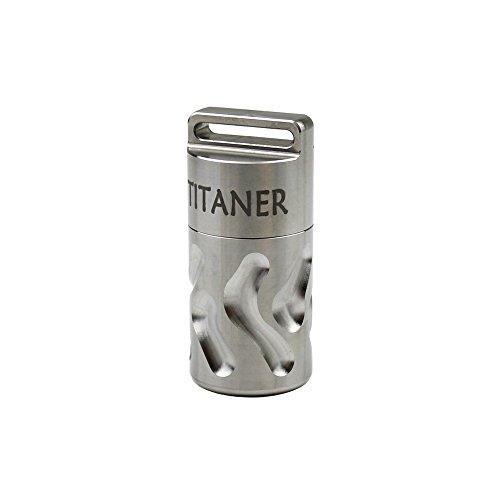 Titaner Titanium Large Single Chamber Capsule EDC Outdoor Ke