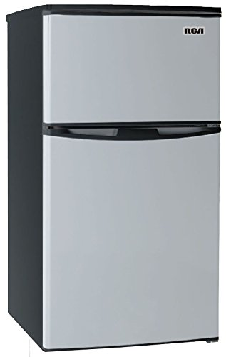 3.2 Cubc Foot 2 Door Fridge and Freezer, Stainless Steel