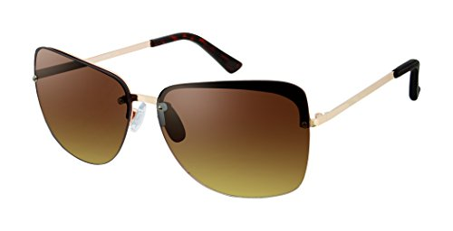Elie Tahari Women's Th709 Rgdox Square Sunglasses, Rose Gold / Black, 62 - Sunglasses Tahari Elie