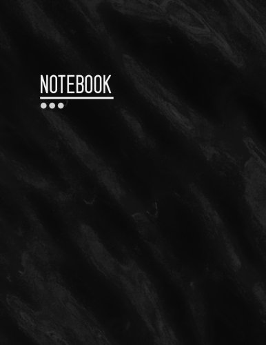 Notebook: Notebook Marble Black, Wave, Cloud, Watercolor, Blank Notebook Unlined 8.5 x 11, Big, Journal for Writing, Drawing, 108 Pages, White Papers (Professional Blank Notebook Unlined Large)