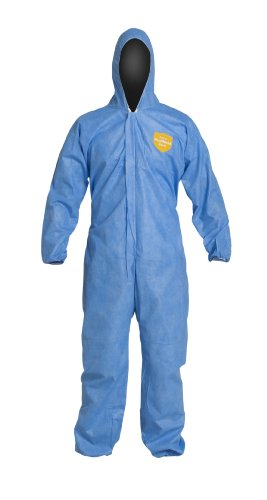 DuPont ProShield 10 PB127S Disposable Protective Coverall with Standard Fit Hood, Elastic Cuff and Ankles, Blue, 2X-Large (Pack of (Ankles Hood)