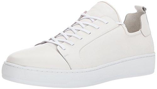 Calvin Klein Men's Nayland Nappa Fashion Sneaker, White, 9 M US by Calvin Klein