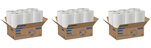 - Kleenex Hard Roll Paper Towels (50606) with Premium Absorbency Pockets, White, 18 Rolls/Case, 3,600 feet