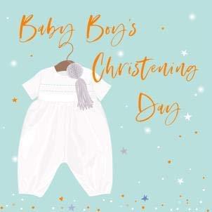 Tarjeta de felicitación para el día del bautizo de bebé ...