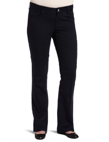Southpole Juniors Plus Size BASIC Uniform Low Rise Bootcut Pant, Dark Navy, 18 - Separates Basic Pant