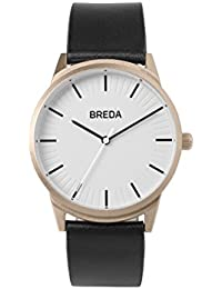 Men's 'Bresson' 5020e Rose Gold Stainless Steel and Black Leather Strap Watch, 39MM