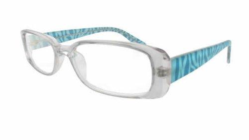Moda Vision T8004 Designer Reading Glasses in Aqua ; - Glasses Aqua Reading