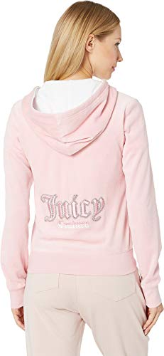 Juicy-Couture-Womens-Juicy-Gothic-Velour-Robertson-Jacket-Dusty-PinkWhite-Small