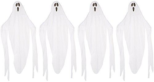 (Forum Novelties Set of 4 7ft Fabric Ghosts Halloween Hanging Decoration for Parties (4))