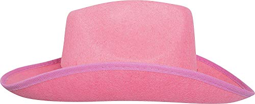 Pink Felt Cowgirl Fashion Hat - Perfect Accessories for Fashion Wear, Halloween, Western Country Music Concert, and or any Events by Toys GoodKids]()