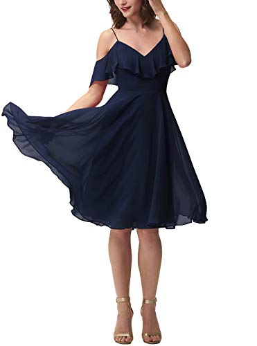 Mujer Vickyben Para Vestido Marino Azul w8SOYZq