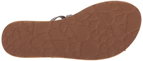 Volcom Women's Easy Breezy Jesus Thong Synthetic Leather Flat Sandal, Parent Brown