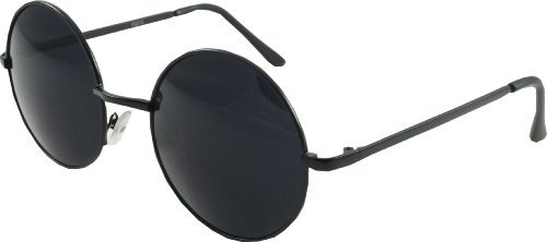4d92ead716758 Image Unavailable. Image not available for. Colour  Round Eye Over Sized  Sunglasses 60 s  Lennon  Style.. Black