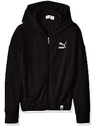 PUMA Girls Girls' Mesh Zip Up Hoodie Hooded Sweatshirt