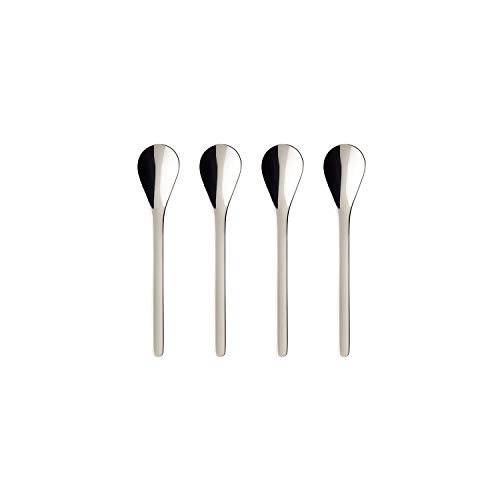 (Coffee Passion Espresso Spoon Set of 4 by Villeroy & Boch - 18/10 Stainless Steel  - Dishwasher Safe - 4 Inches)