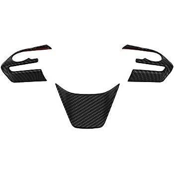 Carbon Style YUZHONGTIAN Car Accessories Steering Wheel Cover Trim ABS 3PCS for Toyota RAV4 XA50 2019-2020
