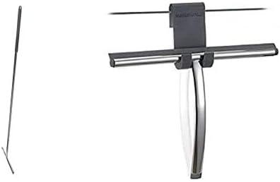 369001018 Raclette de Nettoyage pour Surfaces Vitr/ées avec Support en Acier Inoxydable Poli Sealskin Deluxe Raclette de Sol en Acier Inoxydable Argent/é 135 cm