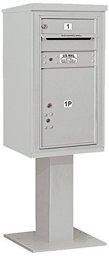 Salsbury Industries 3408s-01gry 4 C Pedestalメールボックス、グレー   B00CLVH752