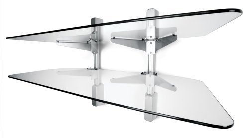 Vantage Point AXWG02S 2-Shelf Audio/Video Wall Shelves  - Silver by Vantage Point