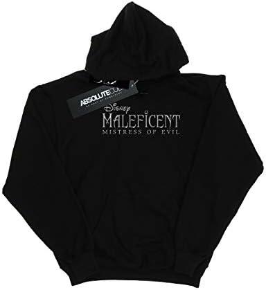 Disney Damen Maleficent Mistress of Evil Logo Kapuzenpullover Schwarz Medium
