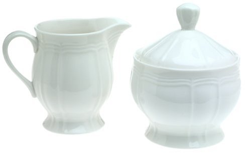 Mikasa Antique White Sugar and Creamer Set