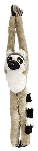 Wild Republic Ring Tailed Lemur Plush, Monkey Stuffed Animal, Plush Toy, Gifts for Kids, Hanging 20 Inches