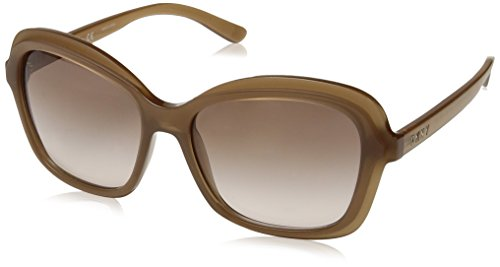 DKNY Women's Injected Woman Sunglass Rectangular, MILKY TAUPE, 56 ()