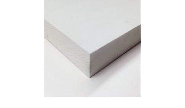 """.25/"""" Nominal Thick White PVC Celtec Foam Board Sheet 24/"""" x 24/"""" x 6mm // 1//4/"""""""