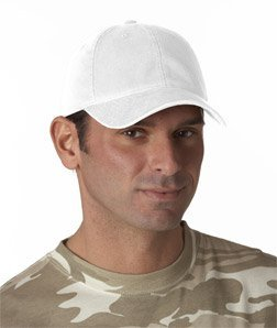 Yupoong Flexfit Garment-Washed Cotton Twill Cap - White, L/XL [Apparel]