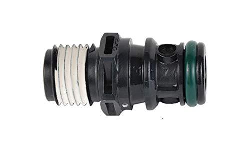 "attwood 8838TM6 Universal Sprayless Connector - Tank Male, 1/4"" NPT W/Thread Sealant"