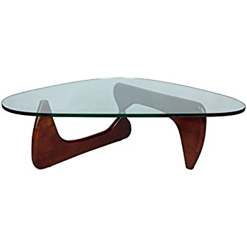 LeisureMod Imperial Triangle Coffee Table, Cherry