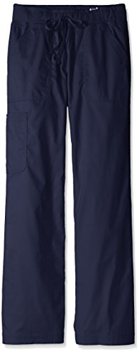 - KOI Women's Tall Morgan Ultra Comfy Yoga-Style Cargo Scrub Pants, Navy, Medium/Tall