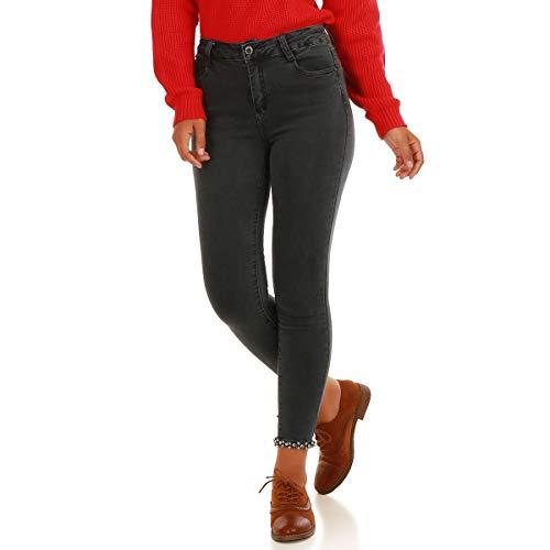 La Modeuse - Vaqueros - Skinny - para Mujer Gris Oscuro