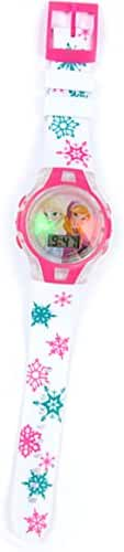 Disney Frozen Anna / Elsa Flashing Watch Pink Bezel