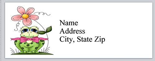 150 Personalized Return Address Labels Cute Frog (bx 713)
