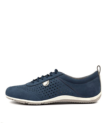 Shoes Leather B Womens Sneakers GEOX Denim LEATHER Denim Casuals DENIM Vega qBOtP8wx4