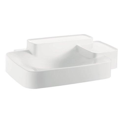 (AXOR 19942000 Wall Hung Bouroullec Wash basin, Small, 2 Shelfs, White)